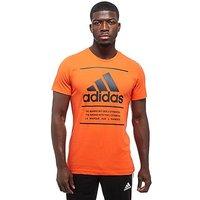 adidas 3 Lines BOS T-Shirt - Orange/Black - Mens