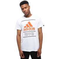 adidas 3 Lines BOS T-Shirt - Only at JD - white - Mens, white