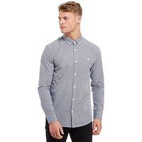 Original Penguin Long Sleeve Gingham Shirt - Blue/White - Mens