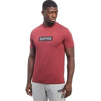 Duffer of St George Logo T-Shirt - Burgundy - Mens