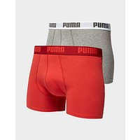 PUMA 2 Pack Boxers - Red/Grey - Mens