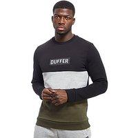 Duffer of St George Farnfield Crew Sweatshirt - Black/Khaki - Mens