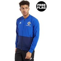 adidas Northern Ireland 2018 Presentation Jacket - Blue/S - Mens