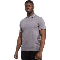 Fred Perry Twin Tipped Pique Polo Shirt - Grey/White/Blue - Mens