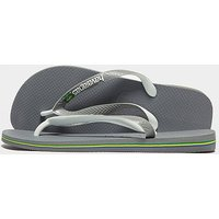 Havaianas Brazil Mix Flip Flops - Grey/White - Mens
