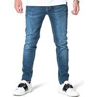 11 Degrees Plain Skinny Jeans - Indigo - Mens
