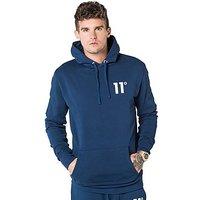 11 Degrees Core Fleece Overhead Hoodie - Navy - Mens