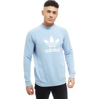 adidas Originals Trefoil Crew Sweatshirt - Blue - Mens, Blue