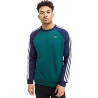 adidas Originals Skateboarding Raglan Crew Sweatshirt - Green/Blue - Mens, Green/Blue