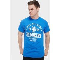 Official Team Chelsea FC Kings T-Shirt - Royal Blue - Mens, Royal Blue