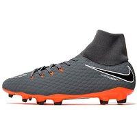 Nike Fast AF Hypervenom Academy Dynamic Fit FG - Grey/Orange - Mens