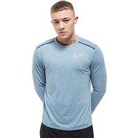 Nike Breathe Tailwind Long Sleeve Top - blue - Mens