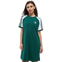 adidas Originals Raglan T-Shirt Dress - Collegiate Green/White - Womens