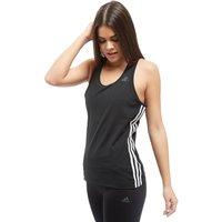 adidas 3-Stripes Training Tank Top - Black/White - Womens, Black/White