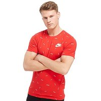 Nike Just Do It All Over Print T-Shirt - Red - Mens