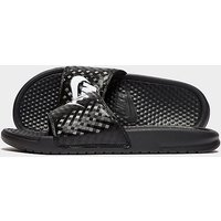Nike Benassi Just Do It Slides Womens - black/white - Womens