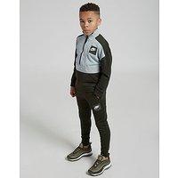 Nike Air 1/4 Zip Tracksuit Junior - Khaki/Light Blue - Kids