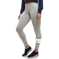 Nike Swoosh Box Leggings - Grey - Womens