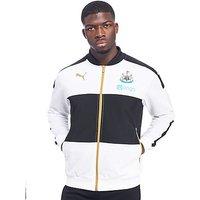 PUMA Newcastle United FC 2016/17 Stadium Jacket - White/Black - Mens