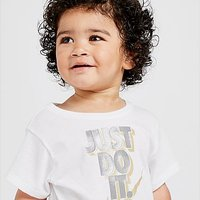 Nike Girls' Just Do It T-Shirt Infant - White/Silver/Gold - Kids