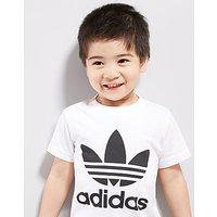 adidas Originals Tee & Short Set Infant - White/Black - Kids