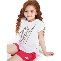 Nike Girls Gradient Futura T-Shirt Children - White/Pink - Kids