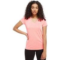 Under Armour Twist Tech V-Neck T-Shirt - Pink - Womens