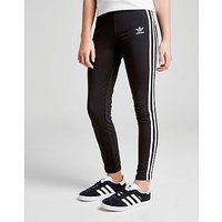 adidas Originals Girls Trefoil 3-Stripes Leggings Junior - Black/White - Kids