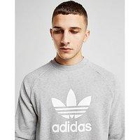 adidas Originals Trefoil Crew Sweatshirt - Grey/White - Mens