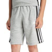 adidas 3 Stripe Fleece Shorts Junior - Only at JD - Grey/Black/White - Kids, Grey/Black/White