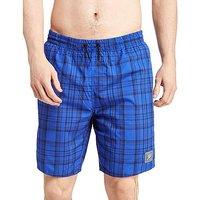 Speedo 18 Inch Check Swim Shorts - Blue - Mens