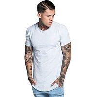 SikSilk Core Curve T-Shirt - Cream Marl - Mens