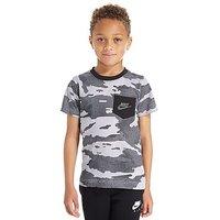 Nike All Over Print T-Shirt Children - White/Black - Kids