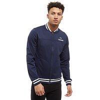 Lacoste Tipped Zip Through Fleece Bomber Jacket - blue - Mens