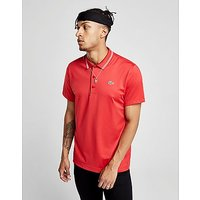 Lacoste Side Logo Poly Polo Shirt - Red/White - Mens