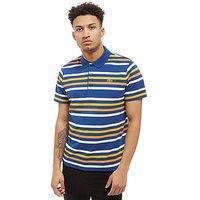 Lacoste Stripe Polo Shirt - blue - Mens