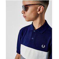 Fred Perry Panel Polo Shirt Junior - Navy/White/Grey - Kids