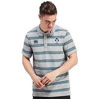 Canterbury Ireland RFU Stripe Polo Shirt - Grey - Mens