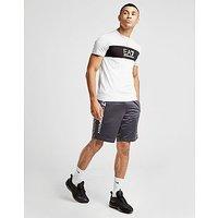 Emporio Armani EA7 Colourblock Central Logo T-Shirt - White/Grey/Black - Mens
