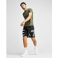 Emporio Armani EA7 Large Logo Shorts - Black/White - Mens