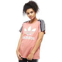 adidas Originals 3-Stripes Panel T-Shirt - Pink/Navy - Womens