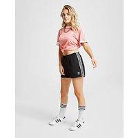 adidas Originals 3-Stripes Poly Shorts - Black/White - Womens