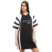 adidas Originals EQT Colourblock T-Shirt Dress - Black/White - Womens