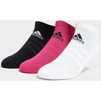 adidas 3 Pack Real Socks - Pink/White/Purple - Mens, Pink/White/Purple