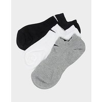Nike 3 Pack Low Socks - Grey/Black/White - Womens