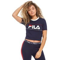 Fila Logo Crop T-Shirt - Navy/White - Womens