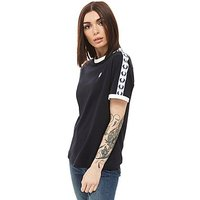 Fred Perry Taped Ringer T-Shirt - blue/white - Womens