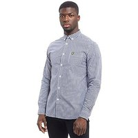 Lyle & Scott Long Sleeve Gingham Shirt - Navy/White - Mens