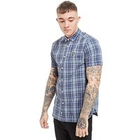 Lyle & Scott Short Sleeve Check Shirt - Navy - Mens