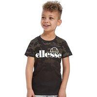 Ellesse Bergio Camo Tee Children - Camo/White - Kids